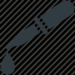 chemical dropper, color picker, dropper, laboratory tool, pipette icon