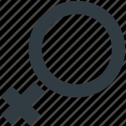female, female gender, gender symbol, sex symbol, venus symbol icon