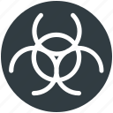 biohazard, biological hazard, danger, nuclear, toxic icon