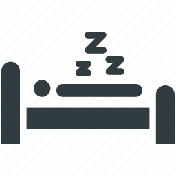 bed, bedroom, relaxing, sleeping, taking rest icon