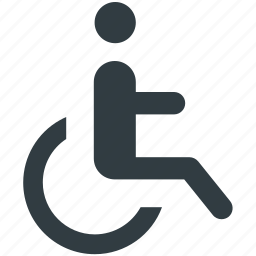 disability, disabled, disabled parking, handicap, paraplegic icon