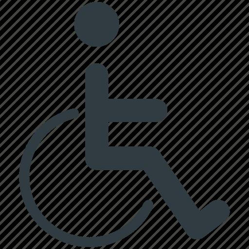 disability, disabled, disabled parking, handicap, paraplegic icon