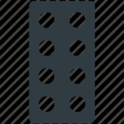 capsule, drugs, medical pills, medications, pills strip icon