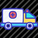 ambulance, emergency, car, hospital