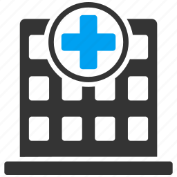 clinic, doctor home, health corporation, healthcare, hospital, medical aid, medicine icon