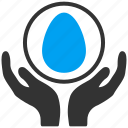 care, careful, easter, egg, hands, incubator, maternity icon