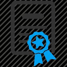 achievement, award, certificate, diploma, graduation, knowledge, university icon
