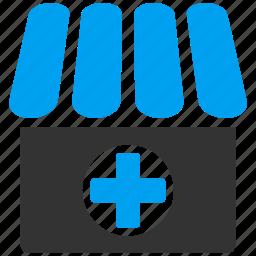 doctor, drug shop, drugstore, hospital, medical, medicine, pharmacy icon