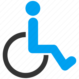 damaged, disabled, handicap, invalid, social, toilet, wheelchair icon
