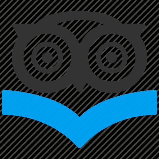 book, education, knowledge, owl, science, study, wisdom icon