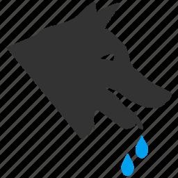 bite, canine, evil, hydrophobia, mad dog, rabies, wolf icon