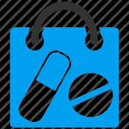 bag, drugs, drugstore, healthcare, medical, pharmacy, shopping icon