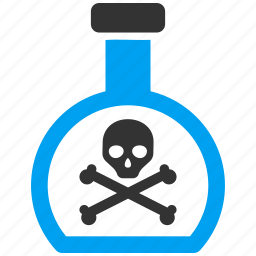 bottle, caution, danger, death, hazard, poison, toxic icon