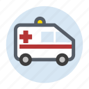 ambulance, healthcare, hospital, transport, vehicle icon