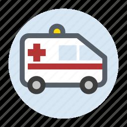 ambulance, healthcare, hospital, transport, vehicle icon