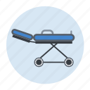 health care, stretcher icon