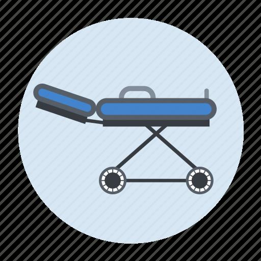 health care, stretcher icon