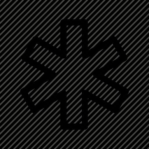 emblem, hospital, sign icon