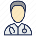 chemist, doctor, hospital, medical, physician, stethoscope icon