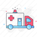 ambulance, car, emergency, health, medical, transport, vehicle icon