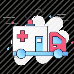ambulance, car, emergency, health, medical, transport, vehicle icon