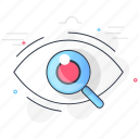 care, checkup, eye, health, medical, retina, test icon