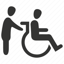 disability, disabled, handicap, patient, wheel, wheelchair icon