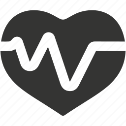 cardiogram, heart, heart care, heart health, heartbeat, pulse icon