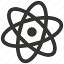 atom, chemistry, electron, nucleus, particles, physics, science icon