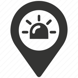 ambulance, ambulance location, emergency, location, siren icon