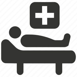 health, hospital, medical care, medical treatment, patient, rest icon