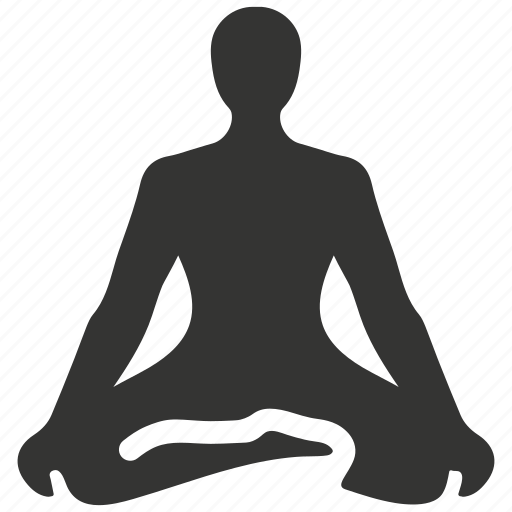 asana, exercise, fitness, lotus, meditation, pose, relaxation, wellness, yoga icon