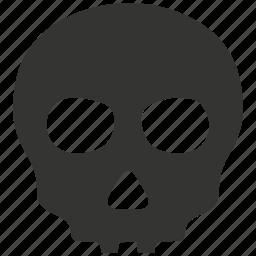 alert, anatomy, danger, skeleton, skull icon