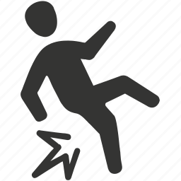 accident, fall, fall down, slip icon