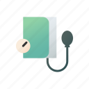 blood pressure meter, sphygmomanometer, health, medical, heartbeat, diagnosis, measurement icon