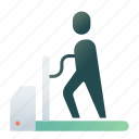 exercise stress test, medical, fitness, physiology, running, treadmill, cardiac icon