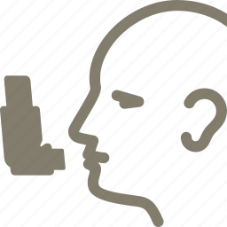 asthma, ilness, inhalator icon