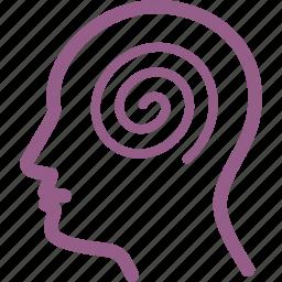 dizziness, headache, ilness icon