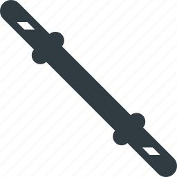 dumbbell, fitness, gym, stick, training, workout icon