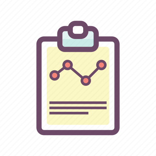 business, chart, clipboard, data, document, graph, statistics icon