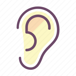 ear, hear, listen, media icon