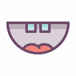 emoji, expression, fun, laugh, mouth, smile, smiley icon