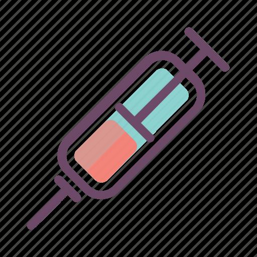 blood, needle, shot, syringe icon