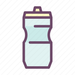 bottle, drink, food, healthy, water, water bottle icon