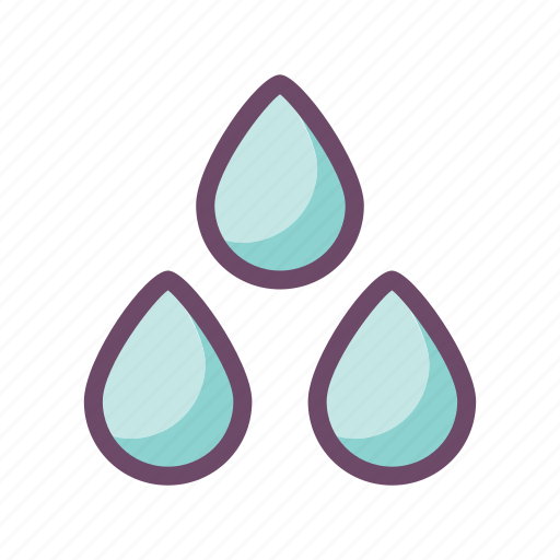 drops, rain, storm, water, weather icon