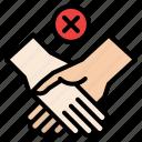 avoid, disease, hand, illness, protection, touching icon
