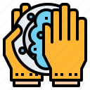 cleaning, dish, health, hygiene, routine icon