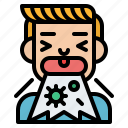 coughing, health, human, illness icon