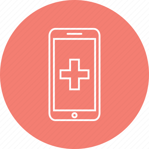 medical question, mobile health, online medical icon