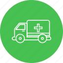 ambulance, emergency, health, healthcare, hospital, medical, patient icon